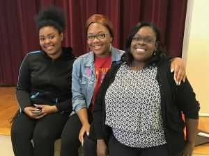 Associate Dafney Dubuisson Stokes pictured with STEMCivics students