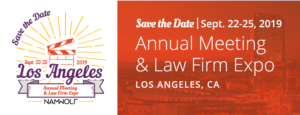 Save The Date | NAMWOLF Annual Meeting and Law Firm Expo | September 22-25, 2019