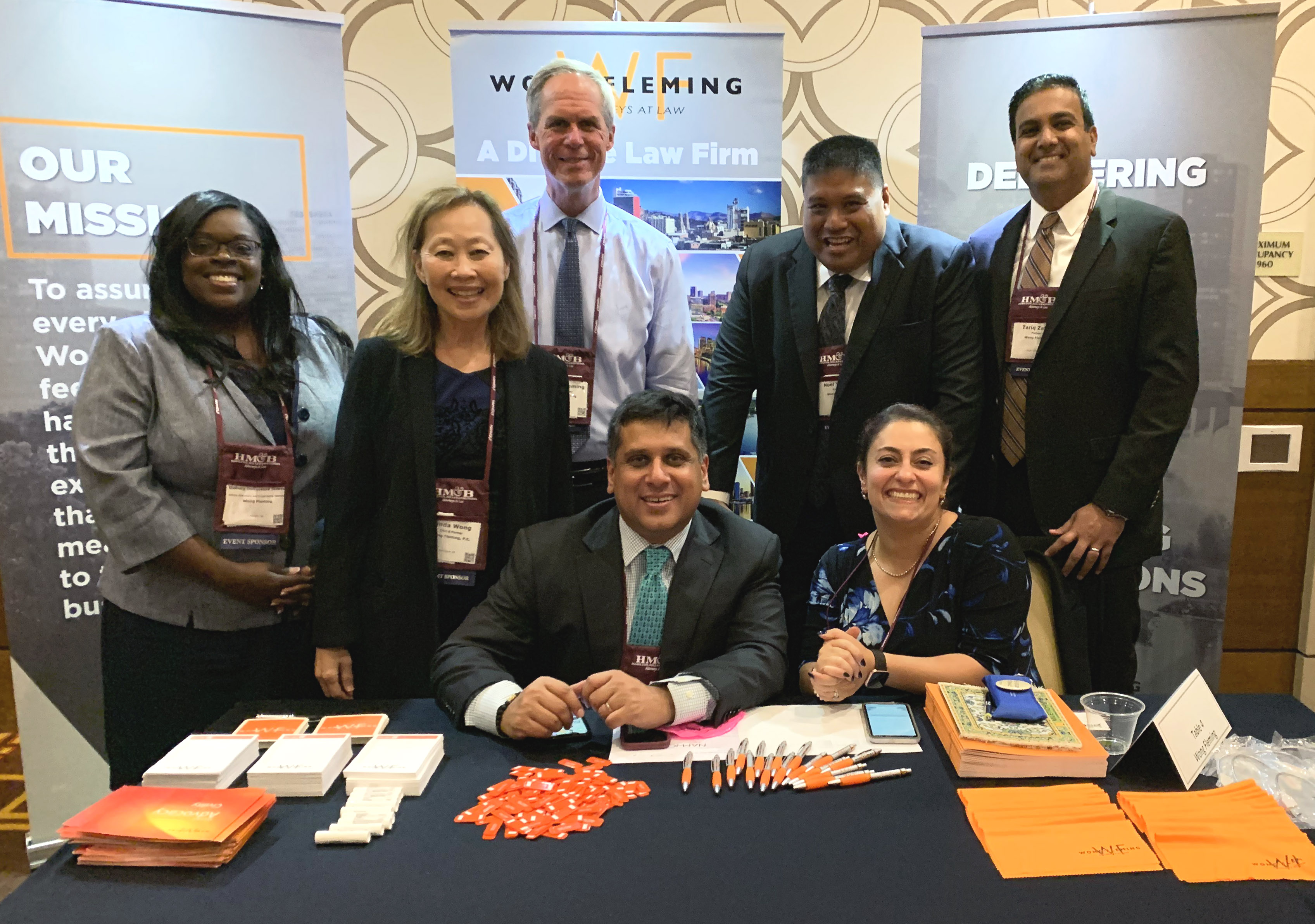 Wong Fleming table at NAMWOLF Annual Meeting and Law Firm Expo 2019